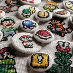 Super Mario Cross Stitch - awesomeness!!!