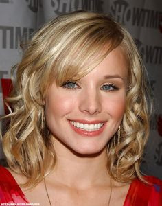 Kristen Bell - love the curls... thinking about getting bangs like her