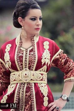 red gold caftan