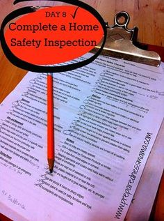 Day 8 - National Preparedness Month Challenge: Here's something for the whole family to do together - Do a Home Safety Inspection | PreparednessMama