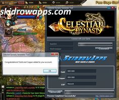 Celestial Dynasty Hack and Cheats for Gold and Copper. To get this correctly follow us, and visit http://skidrowapps.com/celestial-dynasty-hack-cheats/