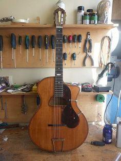 Siro Burgassi 1939 #285. A super rare Gypsy guitar. As restored by Martin Tremblay