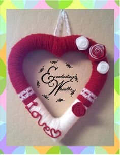 Heart Shaped Valentine's Day Wreath by EverlastingWreaths1 on Etsy, $35.00