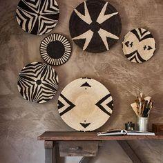 Cestos africanos para decorar las paredes de casa