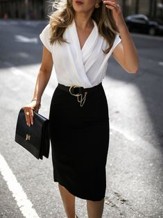 end of summer work outfits Casual Work Outfits, Work Attire, Classy Outfits, Outfit Work, Chic Outfits, Teen Outfits, Office Attire For Women, Classic Fashion Outfits, Cute Office Outfits