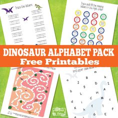 Learn the Alphabet With these dinosaur alphabet worksheets