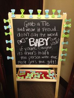 """Baby shower game - """"little man"""" themed with bow ties and mustaches.  extra ideas for boy shower at flibbertigibberis..."""