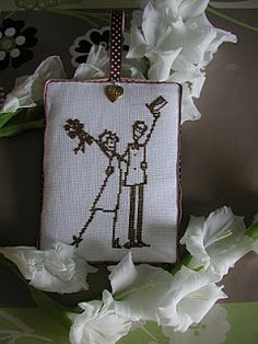 amour - love - marié -  point de croix - cross stitch - Blog : http://broderiemimie44.canalblog.com/