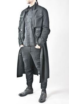 rayon blend reversible multi pocket coat — re. porter