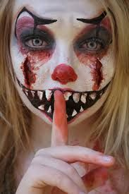 Image result for female clown makeup