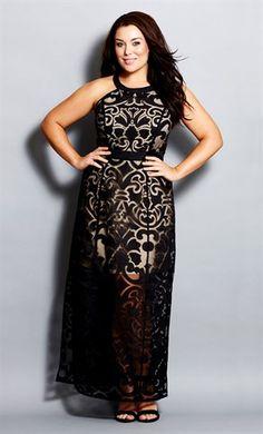 Plus size burnt out maxi dress from citychic.com.au
