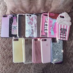Phone cases, case, collection, pink, silicone, iPhone, 7 plus, case mate, iridescent, pretty, glitter, sparkly, purple