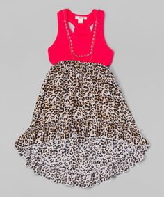 Look at this Pink Leopard Ruffle Dress - Toddler & Girls on #zulily today!