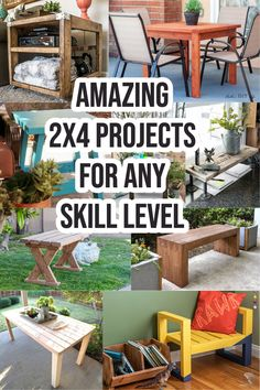 Wow!! These 2x4 projects are so easy to build! Easy DIY 2x4 furniture projects and 2x4 scrap wood project ideas. Check them out now! #woodworking #woodprojects #DIY 2x4 Furniture, Furniture Projects, Beginner Woodworking Projects, Woodworking Plans, Make Money From Home, How To Make Money, 2x4 Wood Projects, Wood Working For Beginners, Project Ideas