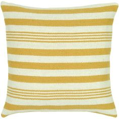 Rizzy T05455 printed 100% wool pillow yellow gold.