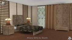 Sims 4 CC's - The Best: Mandarin Bedroom Set by Souris