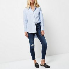 e4f8d40598064d Dark wash Alannah relaxed skinny jeans Stretch Denim, High Waist Jeans, Skinny  Fit,