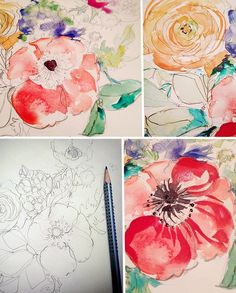 My Story is Art – Peony Watercolor Paintings and The Story on Juicy Watercolor