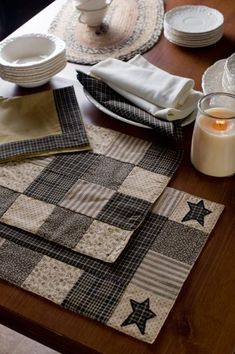 Kettle Grove patchwork placemats from CountryPorch.com