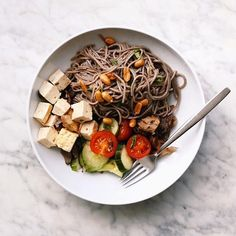 "212 Likes, 9 Comments - Munchery (@munchery) on Instagram: ""Soba Noodle & Grilled Tofu Salad * 📸: @tallulahalexandra #MuncheryDC #munchery"""