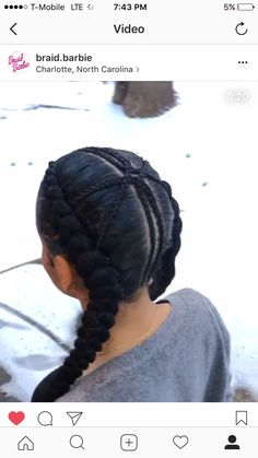 Quick Braid Styles, French Braid Styles, Quick Braids, 2 Braids, French Braids, Hair Ponytail Styles, Ponytail Hairstyles, Natural Hairstyles, Cute Hairstyles