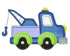 Cute Full Dump Truck Applique Machine by AppliquetionStation
