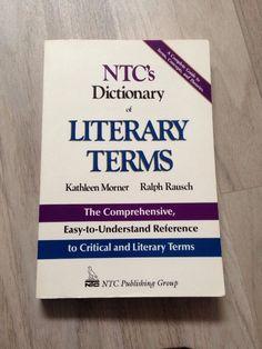 NTC s Dictionary of Literary Terms von Kathleen Morner, Ralph Rausch Literary Terms, Books, Ebay, Pocket Books, Language, Livros, Book, Livres, Libros