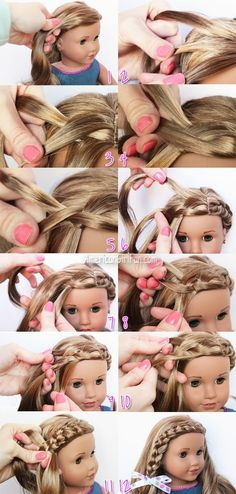 We want to give a Shout-Out to Hatty Bee!Thanks for the request and Just Craft I… - American Girl Dolls Peinados American Girl, American Girl Hairstyles, Little Girl Hairstyles, American Girl Outfits, American Girl Crafts, American Girl Stuff, Girl Doll Clothes, Girl Dolls, Ag Dolls