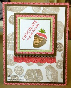 Show and Tell, with Michelle: August Stamp of the Month Hop - A Chocolate Affair