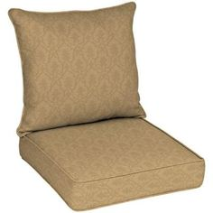 Patio Cushion Ideas - Hampton Bay Bellagio Quick Drying Outdoor Deep Seating Cushion - The Home Depot Deep Seat Cushions, Outdoor Lounge Chair Cushions, Patio Cushions, Outdoor Seating, Outdoor Fabric, Quick Dry, Floor Chair, The Hamptons, Outdoor Living