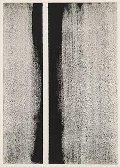 Painterly monochrome stripes by Barnett Newman, Perfectprint-spiration