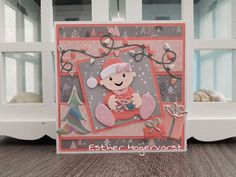 Marianne Design, Baby Cards, Toy Chest, Christmas Cards, Snoopy, Kids Rugs, Storage, Children, Animals
