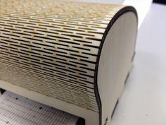 Laser cut sound box, Flexible Plywood Cut