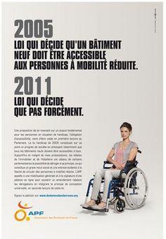 Législation et accessibilité : restons mobilisés ! Campagne APF et BDDP Unlimited