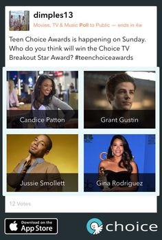 Who will be the #ChoiceBreakoutStar at the #TeenChoiceAwards #TCA #TeenChoice https://choiceapp.co/dimples13/post/5907