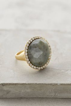 at anthropologie Shimmer-Round Ring in grey