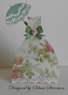 Selma's Stamping Corner and Floral Designs: Joan's Gardens Weekly Challenge Scrapbooks, Diy Craft Projects, Crafts, Bridal Shower Cards, Dress Card, Card Tags, Paper Cards, Greeting Cards Handmade, Scrapbook Cards