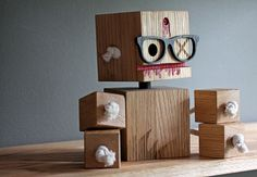 Blocking Dead Zombie bot- Limited Edition Toy from Reclaimed Wood - $55
