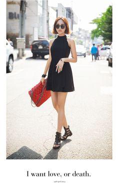 Black Mini Halter Dress