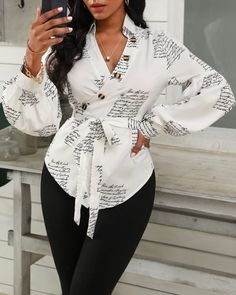 Chic Type, Trend Fashion, Look Fashion, Girl Outfits, Fashion Outfits, Fashion Blouses, Shirt Sale, Blouse Online, Dress Online