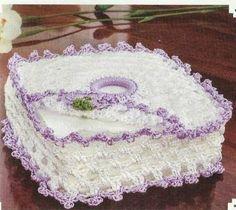 Resultado de imagen para porta guardanapo de crochê