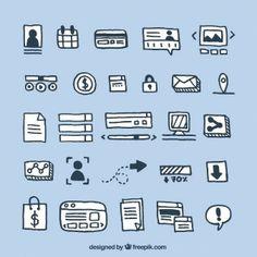 Doodles elementos del sitio web