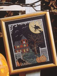 Cross-Stitch - Special Occasions - Autumn Cross-stitch Patterns - Haunted House - #FX00101