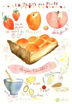 Custom recipe original watercolor painting, Personalized kitchen art, Custom food illustration, Christmas gift for Mom, Foodie wall art gift Fruit Illustration, Food Illustrations, Watercolor Food, Watercolor Painting, Watercolors, Recipe Drawing, Food Painting, Painting Art, Paintings