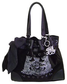 ($169.99) Juicy Couture Scottie Bling Daydreamer Tote Handbag Purse ~ Black In ColorFrom Juicy Couture