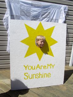 You are my sunshine backdrop photo