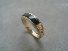 Jade inlay engraved wedder, 18ct yellow gold, Wedding ring, engagement ring,Gift idea, Qualified Jeweller, New Zealand jade, Jade country Hokitika, made to order. Contact us www.tpgoldsmiths.co.nz
