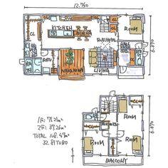 """kiyoshi.tabuchi on Instagram: """". . ベリベリハッピー*\(^o^)/* ってもう夜の12時45分😭 寝なきゃ寝なきゃ . でも でへぇ🤤🤤🤤🤤な 間取りをどうしても清書したくて 何回も描き描き(笑) 自分で自分が笑える 自分で自分褒める 自分が一番自分好き 自分は自分のこと天才と思う . でも、…"""" Japanese House, House Layouts, My Dream Home, Tiny House, House Plans, Floor Plans, Flooring, How To Plan, Architecture"""
