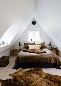 Modern Attic/loft space-add light to open room up and wood floors