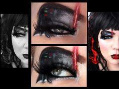 Eye makeup for Darth Vader